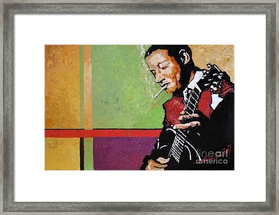 Jazz Guitarist Framed Print by Yuriy  Shevchuk