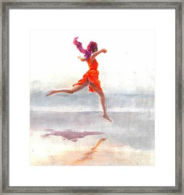 Juno On The Beach Framed Print by Lincoln Seligman