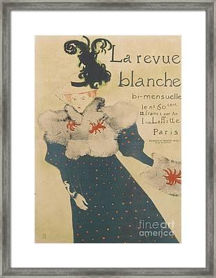 La Revue Blanche Framed Print by Henri de Toulouse