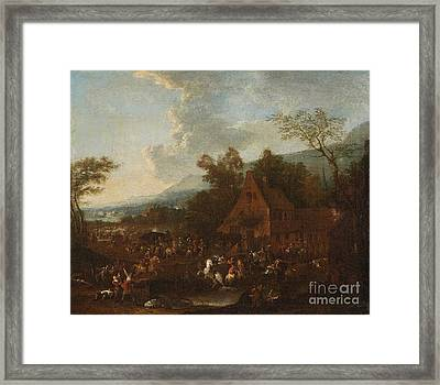 Landscape With Military Camp Framed Print by MotionAge Designs