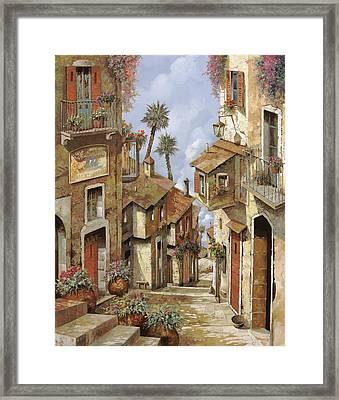 Le Palme Sul Tetto Framed Print by Guido Borelli