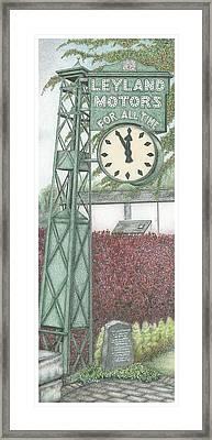 Leyland Motors Clock Kendal Cumbria Framed Print by Sandra Moore