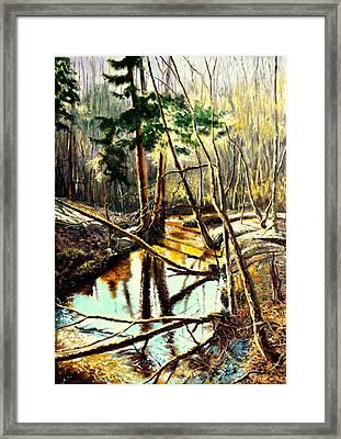Lubianka-1- River Framed Print by Henryk Gorecki