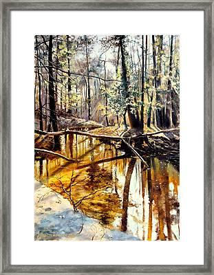 Lubianka-2-river Framed Print by Henryk Gorecki