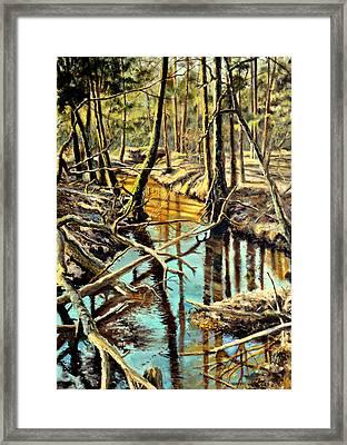 Lubianka-3-river Framed Print by Henryk Gorecki