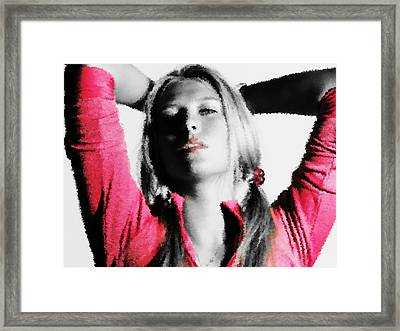 Maria Sharapova 3x Framed Print by Brian Reaves