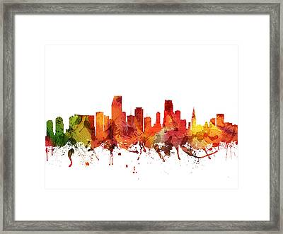 Miami Cityscape 04 Framed Print by Aged Pixel