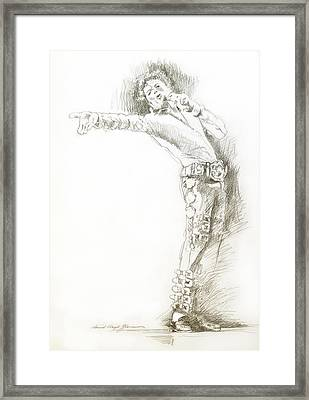 Michael Jackson Live Framed Print by David Lloyd Glover
