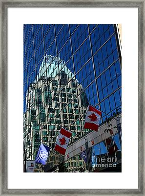 Modern Architecture - City Reflection Vancouver  Framed Print by Christiane Schulze Art And Photography