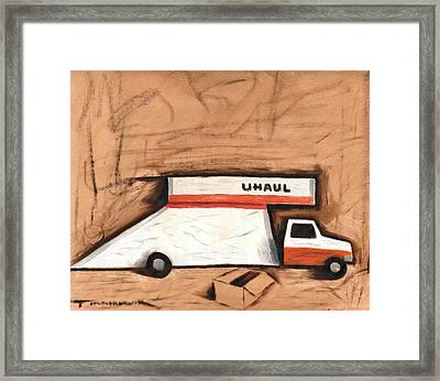Abstract Moving Truck Art Print Framed Print by Tommervik