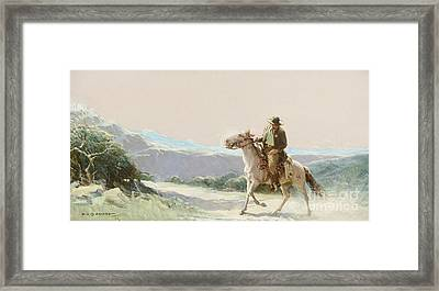 On The Trail Framed Print by Koerner