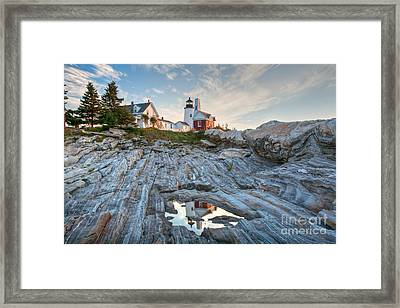 Pemaquid Point Reflection Framed Print by Susan Cole Kelly