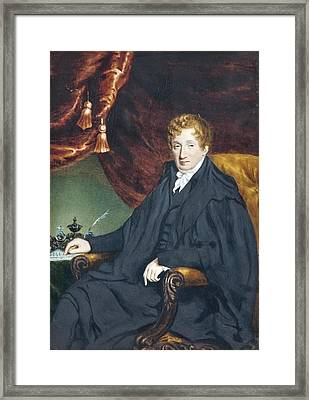 , Portrait Of A Seated Man Framed Print by William John