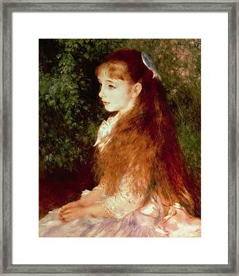 Portrait Of Mademoiselle Irene Cahen D'anvers Framed Print by Pierre Auguste Renoir