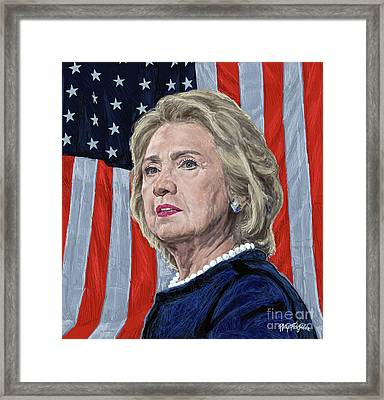 Presidential Candidate Hillary Rodham Clinton Framed Print by Neil Feigeles