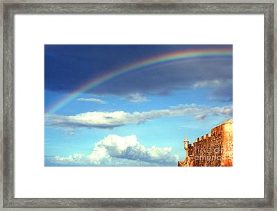Rainbow Over El Morro Fortress Framed Print by Thomas R Fletcher