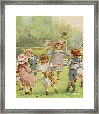 Ring A Ring O Roses Framed Print by English School