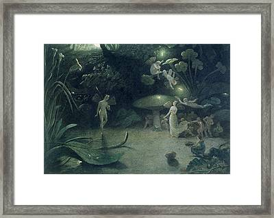 Scene From 'a Midsummer Night's Dream Framed Print by Francis Danby