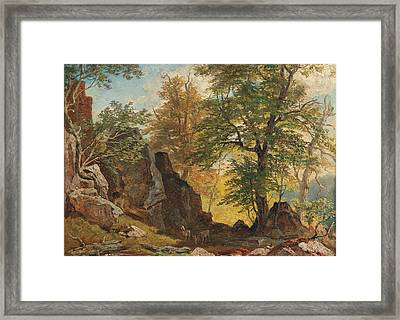 Scene From South Tyrol 2 Framed Print by Franz Xaver Reinhold