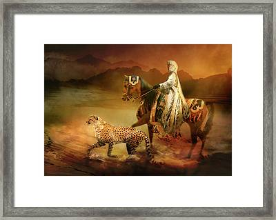 Shifting Sands Framed Print by Trudi Simmonds