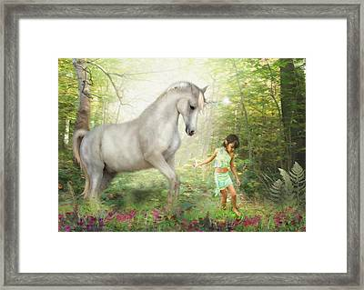 Stella And The Unicorn Framed Print by Trudi Simmonds