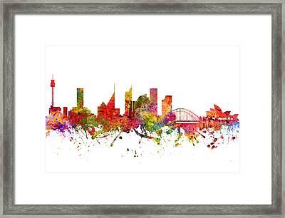 Sydney Australia Cityscape 08 Framed Print by Aged Pixel