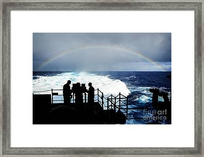 The Aircraft Carrier Uss Ronald Reagan  Framed Print by Celestial Images
