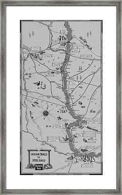 The Burlington Route Indian Trails To Steel Rails Framed Print by American School