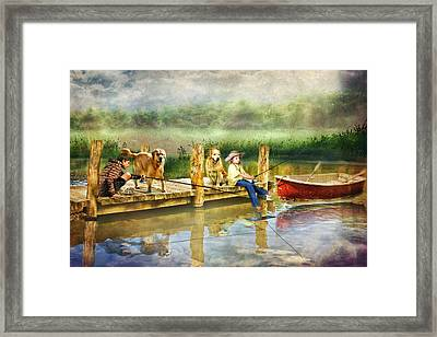 The Fishing Spot Framed Print by Trudi Simmonds