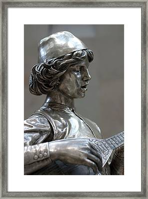 The Lute Player Framed Print by Carl Purcell
