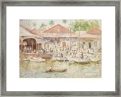 The Market Belize British Honduras Framed Print by Henry Scott Tuke