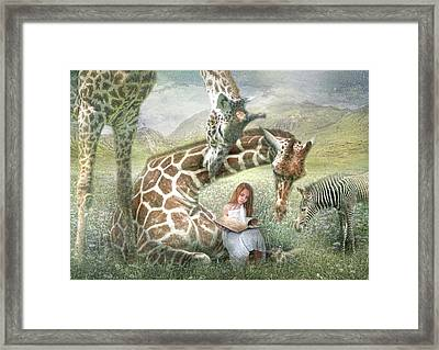 The Reading Room Framed Print by Trudi Simmonds