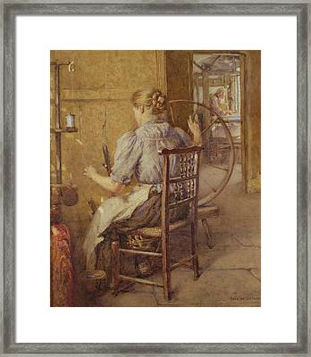 The Spinning Wheel  Framed Print by Frederick William Jackson