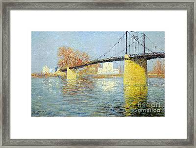 The Suspension Bridge Has Trielsurseine Framed Print by Celestial Images