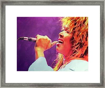 Tina Turner Framed Print by Sergey Lukashin