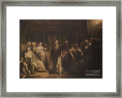Title Study For Belshazzars Feast Framed Print by Allston