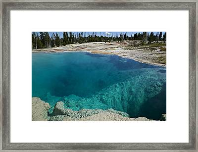 Turquoise Hot Springs Yellowstone Framed Print by Garry Gay