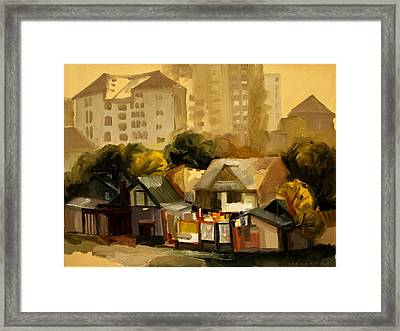 Urban Landscape Framed Print by Ion Mihalache