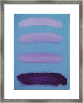 Varying Degrees Of Violet Framed Print by Lindie Racz