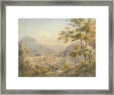 View Of Salzburg Around  Framed Print by Johann