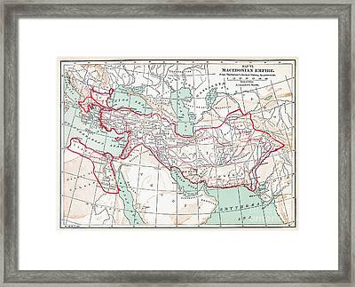 Map Of Macedonian Empire Framed Print by Granger