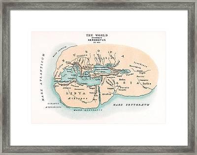 World Map Framed Print by Granger