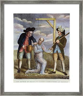 Tarring & Feathering, 1774 Framed Print by Granger
