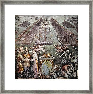 Battle Of Lepanto, 1571 Framed Print by Granger