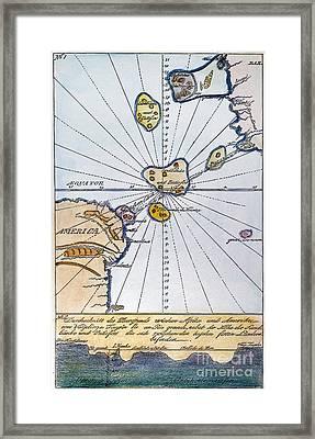 Traces Of Atlantis Framed Print by Granger