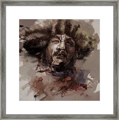 002 Kazakhstan Culture Framed Print by Mahnoor Shah