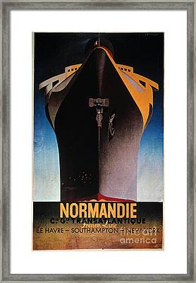 Steamship Normandie, C1935 Framed Print by Granger