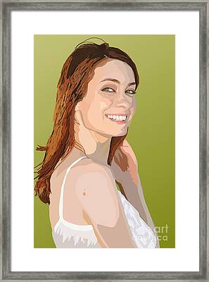 006. A Real Audible Connection Framed Print by Tam Hazlewood