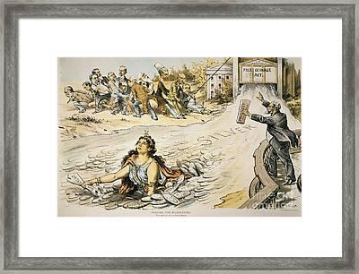 Free Silver Cartoon, 1890 Framed Print by Granger