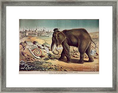 Office Seekers 1885 Framed Print by Granger
